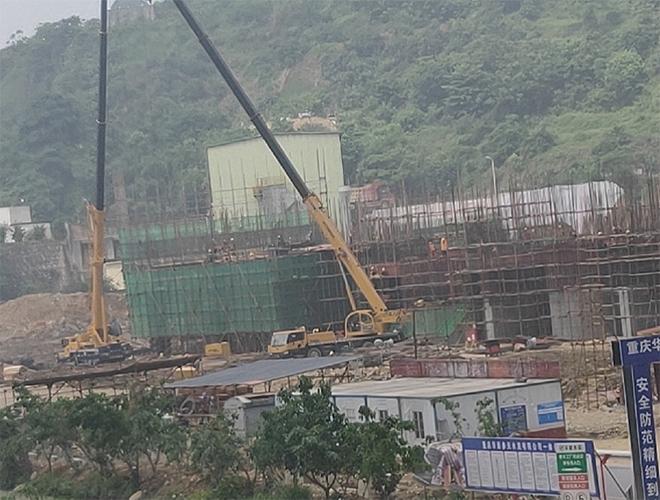 华新水泥参天项目650T生产线建设现场 width=
